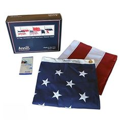 American Usa Flag Stars Quality Brass Grommet Embroidered Stripes Sewn Polyester