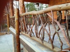 Deck Railings are Jewelry for a Home's Deck. This is THE Best Railing Design to Add Sparkle and Shine! Choose Rustic Wood Deck Railing Artistic Home Decor!