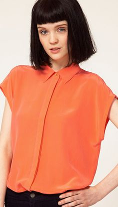 Cute Cheap Western loose chiffon shirt 710 - Blouses Online Shopping Free Shipping 1164980366