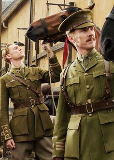 Tom Hiddleston and Benedict Cumberbath in War Horse.