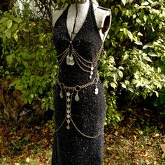 Snake Charmer Set  Belt and 2 Art Deco Coin Drapes by OliviaKissel