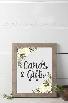 Cards & Gifts Sign // Wedding Sign // Bridal Shower Sign //