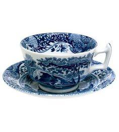Spode- Blue Italian Tea Cup & Saucer