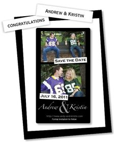 Absolutely love this Save The Date mini magnet! (Well done, @Kristin Gast!)