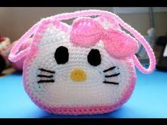 """Bolista en crochet inspirada por """"Hello Kitty"""" (Subtitles in English) Parte 1. Part 1"""