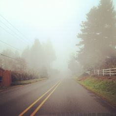 Eugene, Oregon: the fog