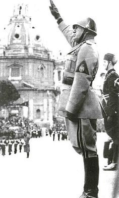 """""""Fascists regard themselves as Crusaders, whose ideal is summed up in two ideas: God and Fatherland; and they are called upon by a duty to sacrifice themselves to the national cause. ... Fascism means candor, courage, sacrifice... It respects the religion of the people, that weighty and ancient force which has upheld the nation in times of submission and of suffering."""" - Benito Mussolini"""