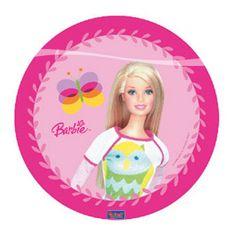 Barbie roze bordjes 10 stuks