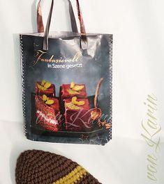 Papiertasche aus Zeitschrift / magazin paper bag  / DIY ... vonKarin