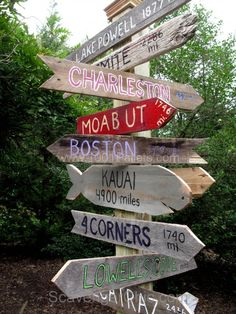 Sign Post made of Pallet Wood | 1001 Pallets
