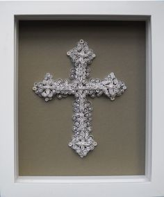 paper quilling - cross, mounted - would like to try sometime...can do lots of different designs with quilling