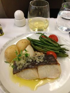 Best plane food ever. Singapore Airlines Business Class... Black cod...mmm