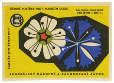 Czechoslovakian matchbox labels (1950s/60s: agriculture) from the collection of design hero David Pearson