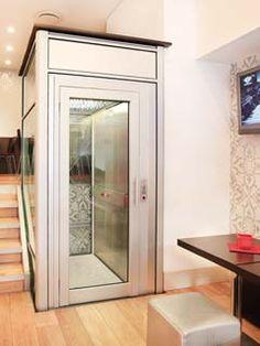 DomusLift EPMR - L'élévateur pour personnes à mobilité réduite House Elevation, Elevator, Sweet Home, Stairs, Living Room, Interior Design, Bed, Furniture, Products