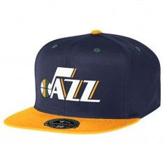 Mitchell & Ness Utah Jazz 2 Tone High Crown Fitted Hat (Navy)