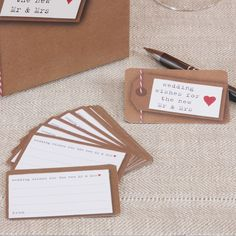 Rustic/Vintage 25 x Wedding Wishes Cards - create a lasting memento of your Day!