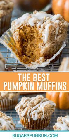 Canned Pumpkin Recipes, Pumpkin Muffin Recipes, Pumpkin Deserts, Easy Pumpkin Desserts, Pumpkin Coffee Cakes, Best Pumpkin Muffins, Pumpkin Cupcakes, Simple Muffin Recipe, Best Moist Muffin Recipe