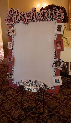 Stephanie's Sweet 16 Sign-in-Board w/Photo's