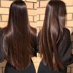 Brown Hair Shades, Light Brown Hair, Brown Hair Colors, Long Brown Hair, Brown Hair For Brown Eyes, Straight Long Hair, Soft Black Hair, Copper Brown Hair, Natural Brown Hair