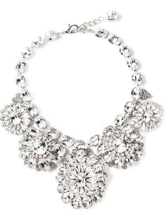 Dolce & Gabbana statement floral crystal necklace