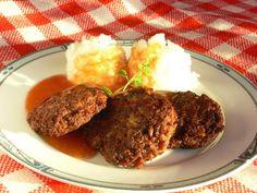 Kalandok a konyhában : Almás marhafasírt narancsos paradicsomszósszal Mashed Potatoes, Beef, Ethnic Recipes, Food, Whipped Potatoes, Meat, Smash Potatoes, Essen, Meals