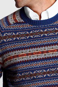 Alex Grant: Lands' End Shorewood Fair Isle Sweater