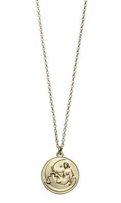 Taurus Charm Pendant Jewels Obsession Zodiac Taurus Pendant 14K White Gold Zodiac 13 mm