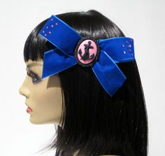 Nautical Hair Bow Anchor Rockabilly Pin Up by GlampireDesign