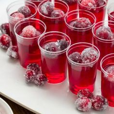 For the Sugar-Coated Cranberries: Pour the water and 1/2 cup of sugar into a saucepan over medium heat, stirring until the sugar has dissolved completely ...