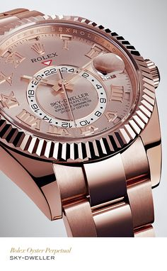 The rotatable Ring Command bezel of the Rolex Sky-Dweller, interacts with the movement to allow the global traveller to easily access the watch functions that need to be set.