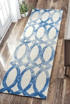 Rugs USA Blue Dip Dyed Stained Glass Trellis Rug