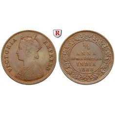 Indien, Dewas, Victoria, 1/4 Anna 1888, ss/vz: Victoria 1837-1901. Kupfer-1/4 Anna 1888. KM 3; sehr schön / vorzüglich 250,00€ #coins