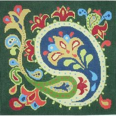 Julia's Needleworks, paisley needlepoint canvas