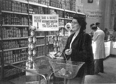 The first self service food shops in Britain were  started by the co-operative movement before the end of the Second World War,  but few grocers followed this trend. Description from business-school.exeter.ac.uk. I searched for this on bing.com/images