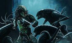 Aliens vs. Predator by MightyGodOfThunder on DeviantArt