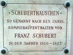 Gedenktafel am Schuberthaus Signs, Rosary Beads, Pray, Shop Signs, Sign