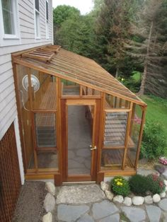 Greenhouse Plans 589830882432734829 - DIY Lean to Greenhouse: Kits on How to Build a Solarium Yourself! Lean To Greenhouse Kits, Greenhouse Attached To House, Diy Greenhouse Plans, Best Greenhouse, Backyard Greenhouse, Backyard Landscaping, Greenhouse Wedding, Homemade Greenhouse, Portable Greenhouse