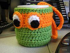 Ravelry: Turtle Power! Mug Cozy pattern by Nancy Torrance