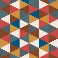 Tissu grands triangles mix coloris Eté indien par Aime comme Marie  {pour moi}
