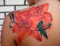 ... artist is amazing | Pastel flower/tropical tattoo ideas | Pinter