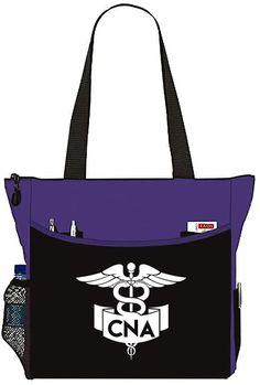 Purple Nurse Bag with CNA Banner Caduceus Tote Handbag - Great Gifts For Nurses Traveling Cna, Nurse Bag, Christian Crafts, Bible Covers, Personal Organizer, Macbook Pro Case, Nurse Gifts, Tote Handbags, Purple And Black