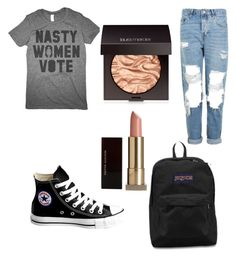 """#stillwithher"" by maia-richard on Polyvore featuring Topshop, Converse, JanSport, Laura Mercier and Kevyn Aucoin"
