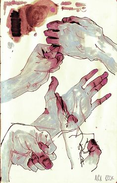 """Character sketches 752453050226987628 - red-lipstick: """" Alex Beck – Hands, 2013 Drawings """" Source by Art And Illustration, Dark Art Illustrations, Pretty Art, Cute Art, Art Sketches, Art Drawings, Drawing Faces, Bel Art, Art Du Croquis"""