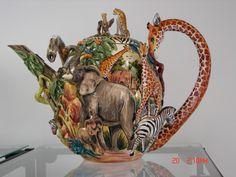 "Giant Teapot 14"" Tall Ceramic Teapots, Ceramic Decor, Elephant Teapot, Tea Cozy, Like Animals, Kettles, Ceramic Artists, Sugar Bowl, Elephants"