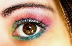 Rainbow makeup for brown eyes :: one1lady.com :: #makeup #eyes #eyemakeup