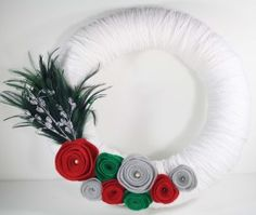 How to make Wreath -Yarn And Felt  - DIY Craft Project with instructions from Craftbits.com