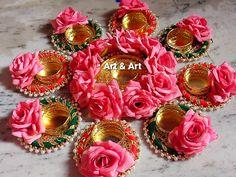 Diya Decoration Ideas, Diy Diwali Decorations, Wedding Decorations, Diwali Diya, Diwali Craft, Acrylic Rangoli, Desi Wedding Decor, Queen Bees, Ornament Wreath