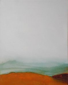 Collisions between Heaven and Earth. Series of contemporary, abstract landscape paintings by Anne Stahl.
