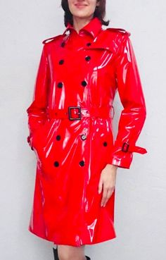 Ukraine, Party Kleidung, Red Trench Coat, Stylish Jackets, Rain Wear, Double Breasted, Cool Outfits, Raincoat, Leather Jacket