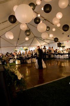 Black and White Wedding Lanterns
